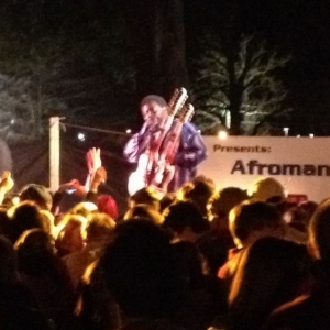 From last night- Afroman performing at a frat house