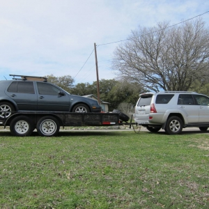 Towing the Golf 2
