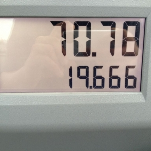 And I had about 6 gallons left in the tank