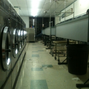 Damn drier broke! Now I'm here at the laundry may and some crack head