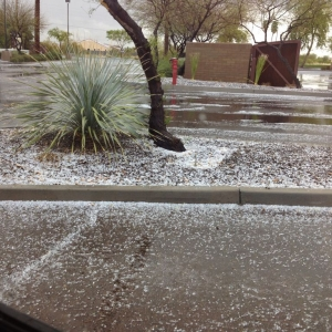 Lots of hail on Gilbert rd and chandler heights.