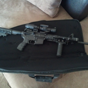 For ar15 thread...new vertical foregrip
