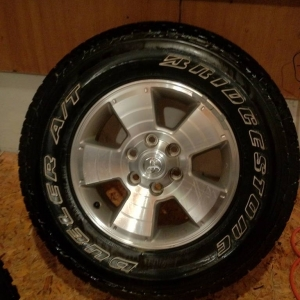 TRD Sport Wheels with Dueler A/T's 265/70/17