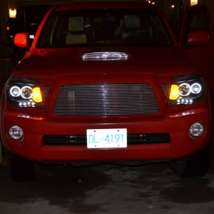 Truck with Halo's and billet grill