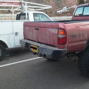 Rear Iron Bull Plate Bumper