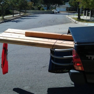 Hauling wood