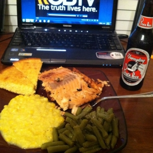 Dinner ! And the beer is AWESOME!!