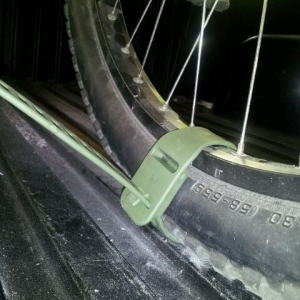 Found a way to keep that back tire stationary now..