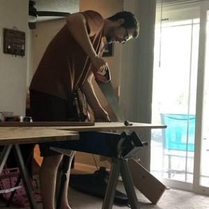 Sawing bed frame