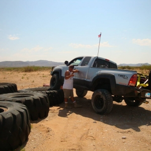 On the monster tire