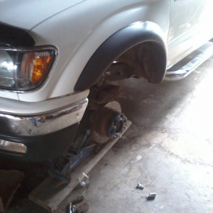 lil brake change.