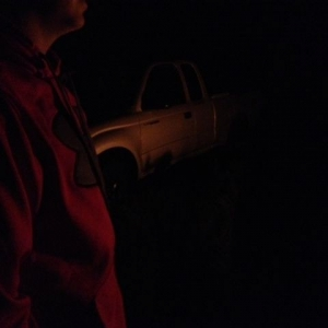 At the bonfire out in the sticks