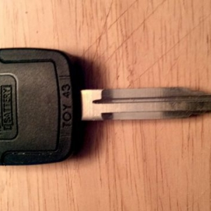 Tacoma Home Depot Transponder Key Back