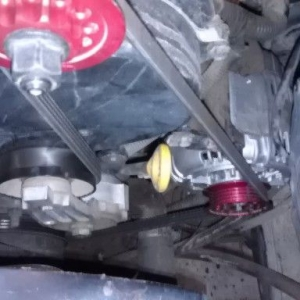 URD 2.2 super grip pully on a Toyota supra 200 amp alt.