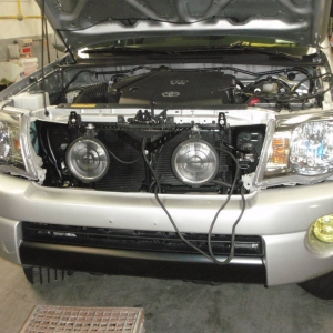 Fog lights installed and bumper is back on