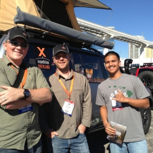 At SEMA talking with Scott and Clay from Expedition Overland
