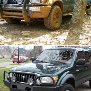 RLC bumper Before and after shot