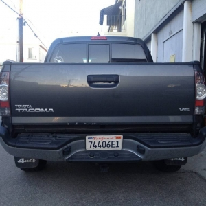 bent tacoma - rear