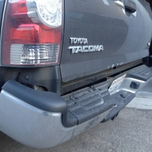 bent tacoma - side close