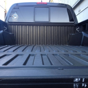 bent tacoma bed