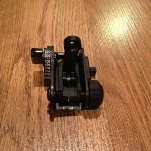 Matech Backup Iron Sight for picatanny rail grabber