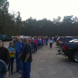 Line at gun show in mobile.