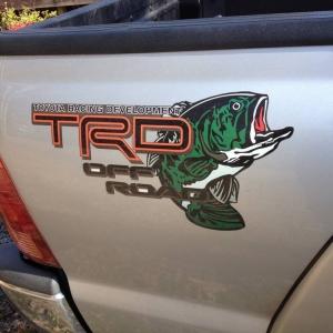 custom fishing TRD decal