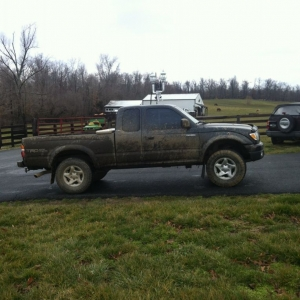 Muddy Truck day at school.