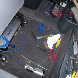 amp under seat