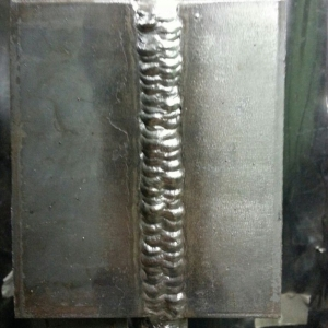 Vertical uphill z-weave. Just finished stick welding class.