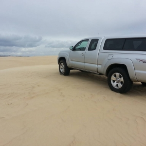 Pismo Dunes rousting with stock TRD sport sus