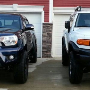 my Tacoma and my brothers FJ