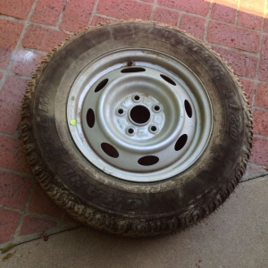 '05+ 2nd Gen. 5-lug Tacoma spare wheel and tire for sale.