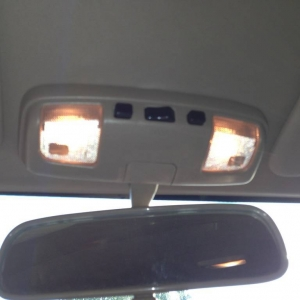 Map light Mod 02 - OEM miror with lights from 4Runner