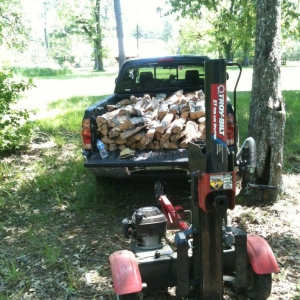 Splitting some firewood