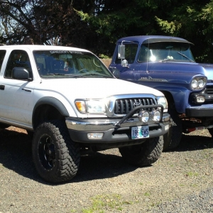 my tacoma and chevy