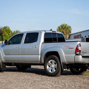 Stock Silver Toyota Tacoma TRD Sport 4x4 Double Cab