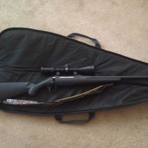 Just pick up my Ruger American! 30-06 with a Nikon scope