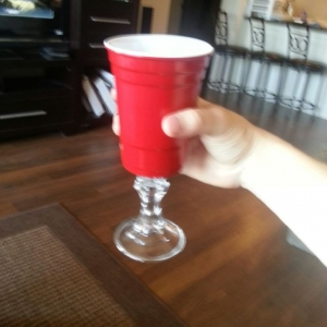 """""""Red solo cup, I lift you up, its time to party"""" This message was"""