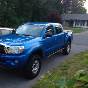 Speedway Blue Double Cab Short Bed