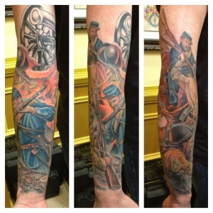 Few more hrs on the sleeve.