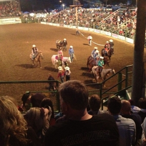 At the rodeo! :D