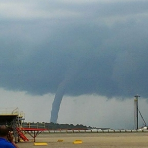 Water spout the other day at work