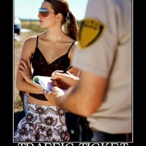 ticket-traffic-women-cop-sunglasses-best-demotivational-posters