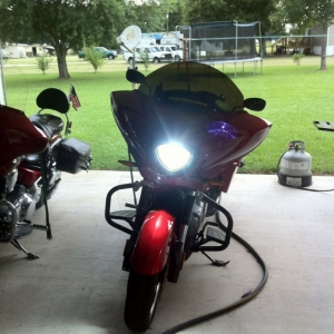 HID's on the bike!
