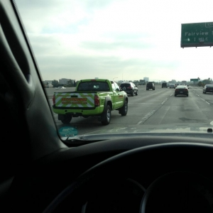 Bright green Tacoma