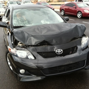 The Corolla that straightened my rear bumper Tuesday.