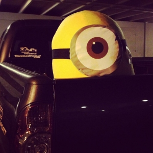 This minion hitched a ride home from the OC Fair.