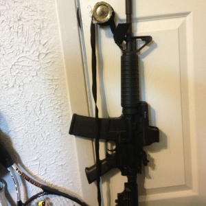 My AR-15 running an EO tech 512 and a rear flip up Yankee hill peep sight