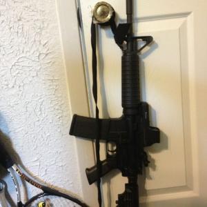 My AR-15 running an EO tech 512 and a rear flip up Yankee hill peep sight
